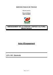Acte d'engagement - Mairie de Caveirac