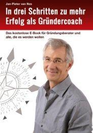 Jan-Pieter van Nes- In drei Schritten zu mehr Erfolg als Gründercoach