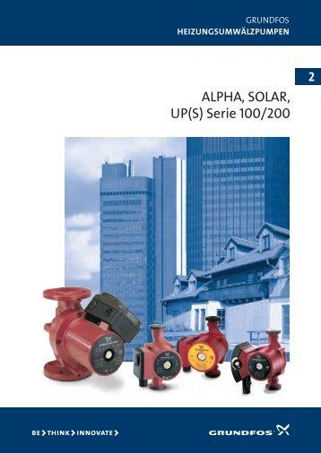 ALPHA, SOLAR, UP(S) Serie 100/200 - Locutis Energy Systems
