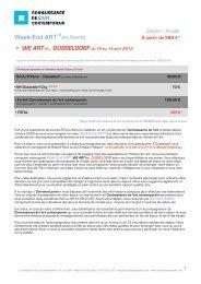 Bulletin d'inscription - Connaissance de l'Art Contemporain