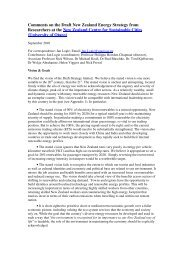 Comments on the Draft New Zealand Energy Strategy from ...