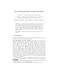 The Graham-Knowlton Problem Revisited - TRDDC