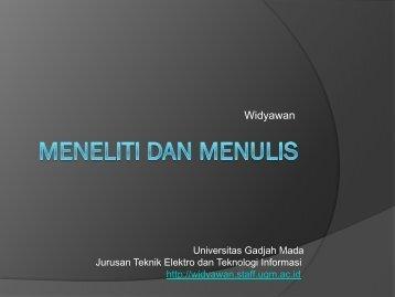Metode Penulisan Ilmiah - Teknik Elektro UGM - Universitas Gadjah ...