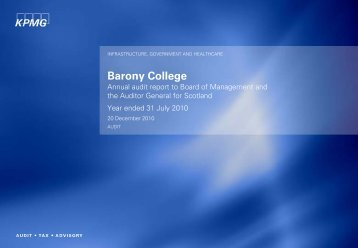 Barony College (PDF | 131 KB) - Audit Scotland
