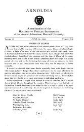 Order of Bloom - Arnoldia - Harvard University