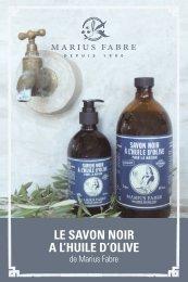 LE SAVON NOIR A L'HUILE D'OLIVE - Marius Fabre