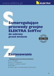 Przewody grzejne SelfTec - Instrukcja instalacji - Elektra
