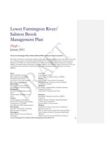 Lower Farmington River/ Salmon Brook Management Plan