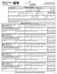 Prescription Drug Form - InstantBenefits.net