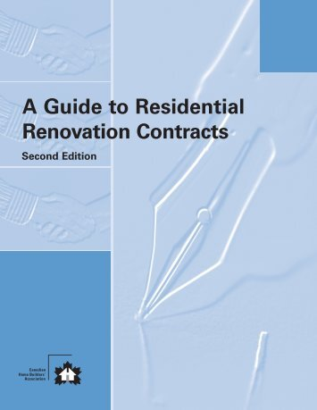 A Guide to Residential Renovation Contracts - Canadian Home ...