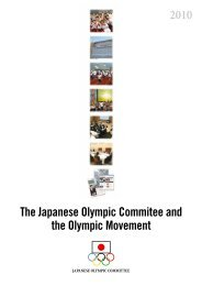 2010 The Japanese Olympic Commitee and the Olympic Movement