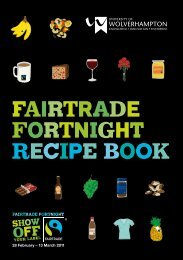 FAIRTRADE FORTNIGHT RECIPE BOOK