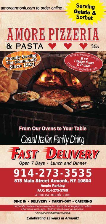 Casual Italian Family Dining - Amore Pizzeria & Pasta