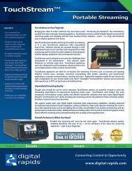 TouchStream™ - Video Media Solutions
