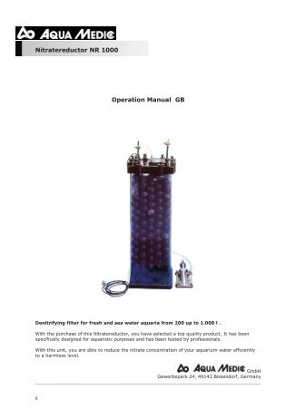 Reef Octopus Nwb 150 Instructions Pdf Drs Foster Smith
