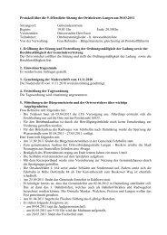 Protokoll über die 9. öffentliche Sitzung des Ortsbeirates Langen am ...