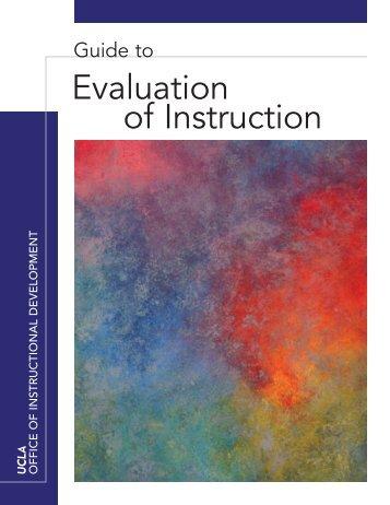 Evaluation of Instruction - Office of Instructional Development - UCLA