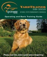 SportDog SD-105S Manual - Dog Training Collars