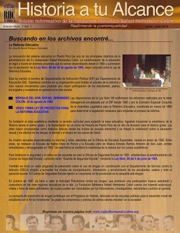 Boletín Informativo Edición Núm. 3 Vol. 1 - Junio a Julio 2012