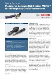 MCRS-T - Bosch Automotive Technology