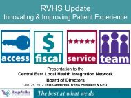 Rouge Valley Health System - Strategic and Quality Improvement Plan