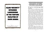detainees in torture facilities of saudi arabia - The Majlis