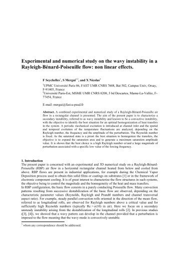 Experimental and numerical study on the wavy instability in a ...