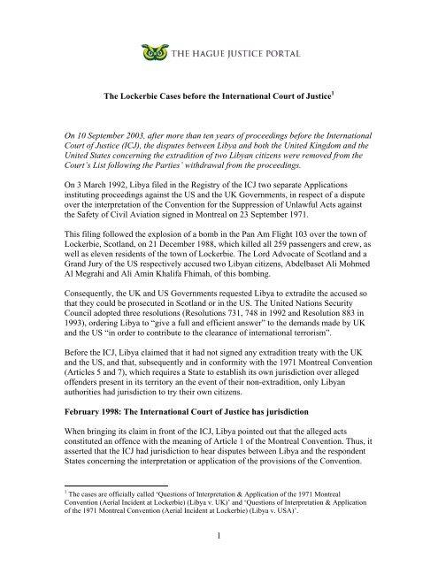 https www yumpu com en document view 35514056 lockerbie cases the hague justice portal