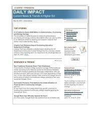 Academic Impressions - College of Public Affairs & Community Service
