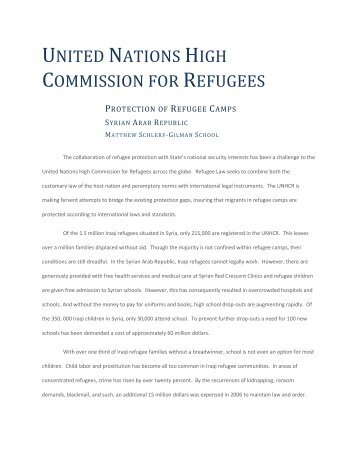 UNITED NATIONS HIGH COMMISSION FOR REFUGEES - IDIA
