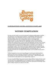 WITHIN TEMPTATION - Buma Cultuur