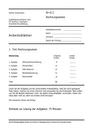 2011 E RW Arb - Wirtschaftsschule KV Chur