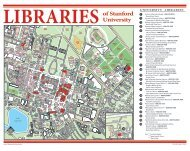 Stanford University Parking and Circulation Map