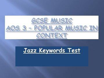 GCSE Music AOS 3 – Popular Music in Context