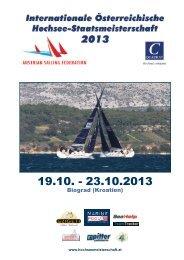 Programm und die Segelanweisungen - Kornati Cup