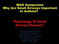 Slides - World Allergy Organization