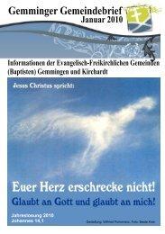 Gemminger Gemeindebrief - EFG-Gemmingen