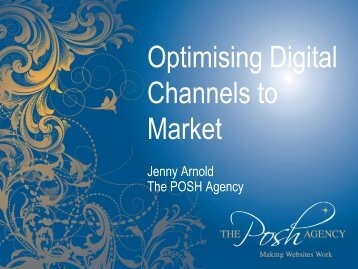 Optimising Digital Channels to Market - Scottish Tourism Alliance