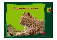 Organisatorisches (Ina Brockmann, Leiterin Zooschule ... - VZP