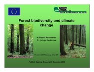 Forest biodiversity and climate change - PolSCA