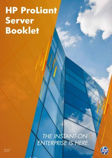HP ProLiant Server Booklet - Baechler computers