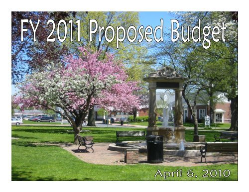 Budget Presentation - Town of Windsor