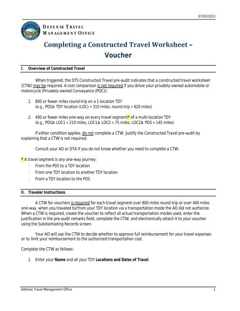 constructed travel worksheet instructions for vouchers