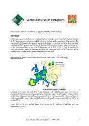 La forêt dans l'Union européenne - CRPF Limousin