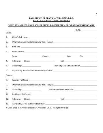 office questionnaire
