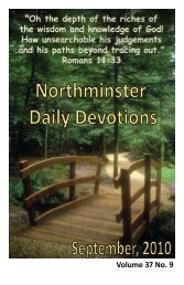 September 2010 Devotional - Northminster Presbyterian Church