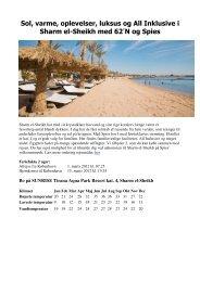 Sol, varme, oplevelser, luksus og All Inklusive i Sharm el ... - 62n