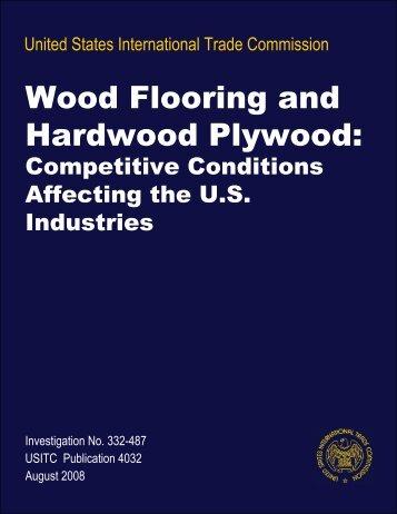 Wood Flooring and Hardwood Plywood: Competitive ... - USITC