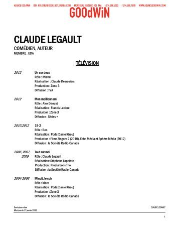 CLAUDE LEGAULT - Agence Goodwin