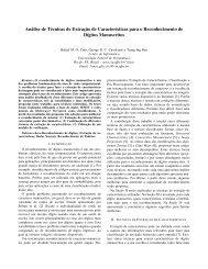 Análise de Técnicas de Extração de Características para ... - PUC-Rio